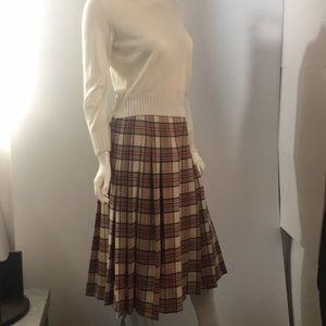 Pendleton classic vintage plaid wool skirt 12p